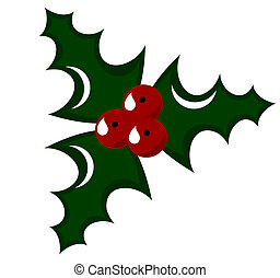 Holly berry illustration - Holly berry - symbol of Christmas...