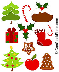 Christmas icons - Christmas collection of icons. Vector...
