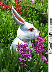 Easter bunny in the grass