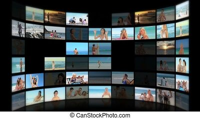 Montage of people relaxing