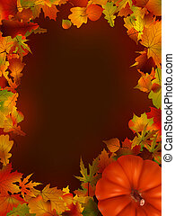 illustration of thanksgiving day background EPS 8 vector...