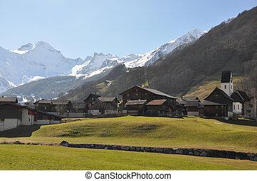 suiza, aldea, olmo