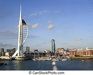 Portsmouth waterfront - The waterfront at Portsmouth showing...
