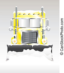 Snow plough - A vector illustration of a snow plough...
