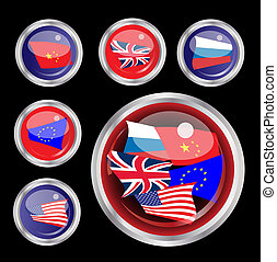 Superpower flag buttons