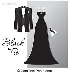 black-tie - Dress code - Black tie The man - a black tuxedo...