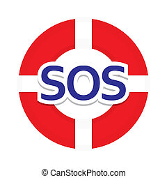 icon-sos - Sign symbol sos - the international distress...