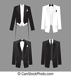 mens-dress-code - Dress code for men - male costume: tails,...