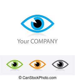 optics - Template vector corporate logo - ophthalmic optics...