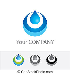 pure-water - Template vector corporate logo - Pure Water...