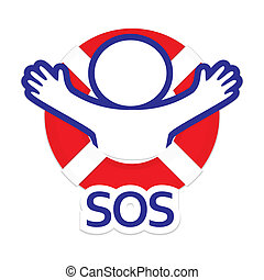 sos - Sign symbol sos - the international distress signal