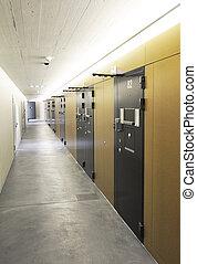 Corridor in a modern prison
