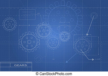 Blueprint Gear Illustration