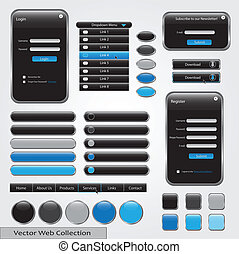 Black and Blue Web Forms Template