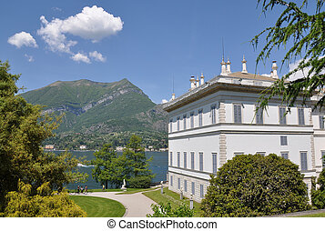 Villa Melzi in Bellagio town at the famous Italian lake Como...