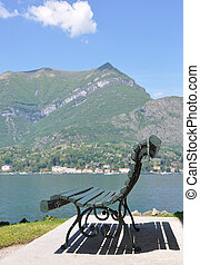 Park of Villa Melzi in Bellagio at the famous Italian lake...