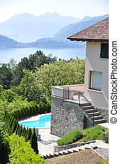 Holiday villa overlooking lake Como, Italy