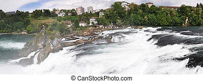 Rhinefall in Schaffhausen, Switzerland, the largest...