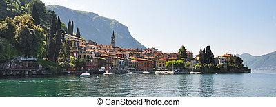 Varenna town at the famous Italian lake Como