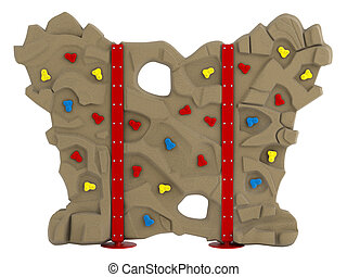 Climbing wall isolated on white background