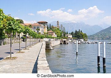 Tremezzo town at the famous Italian lake Como