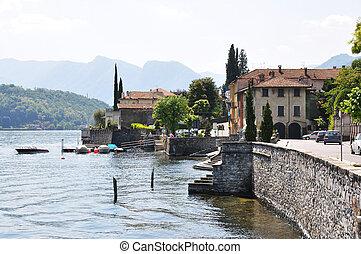 Tremezzo town at the famous Italian lake Como
