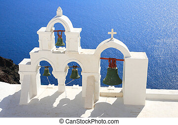 Santorini island Greece - Church in Oia - Santorini island...