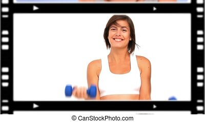 Montage of women representing healt - Montage of women doing...