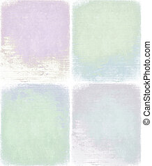 Pastel grunge background set isolated with clipping path
