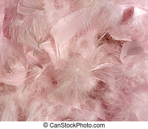 Fluffy pink feather background