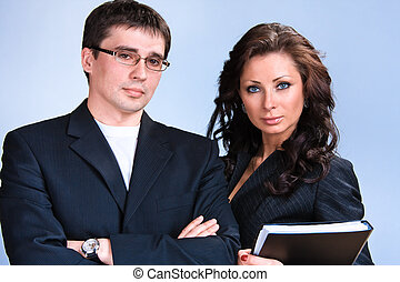 Business people - Portrait of young business people with...