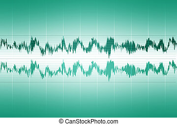 Audio Waveform - Sound audio waveform, abstract background...