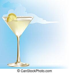 Summer drink of lemonade,juice or wine