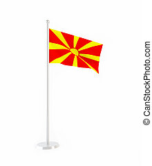 3D flag of Macedonia