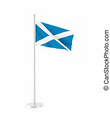 3D flag of Scotland