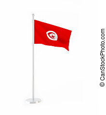 3D flag of Tunisia