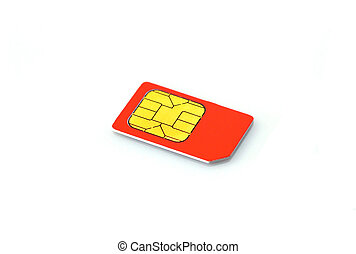 Mobile phone SIM card - This photograph represent a Mobile...