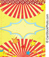 retro circus poster with stars - retro circus poster Vector...