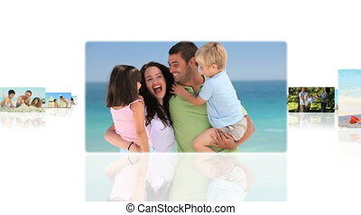 Montage of children spending good time with their parents