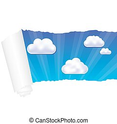 Paper And Cloud, Vector Illustration