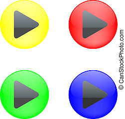 Vector - Button with Play