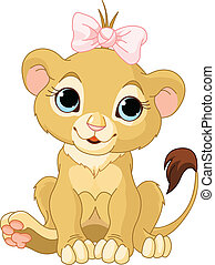 Lion girl cub - A cute character lion girl cub