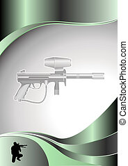 paintball metal background