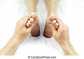 Rubbing Feet Up