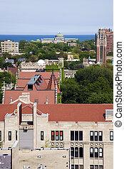 University of Chicago campus aerial photo