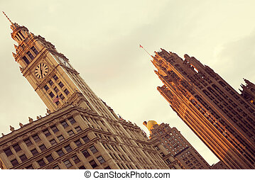 Wrigley Building and Tribune Building - Wrigley Building and...