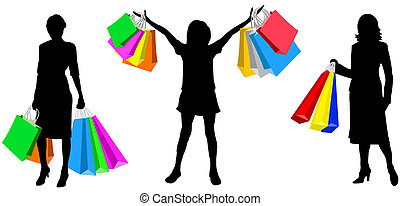 Womans with purchases
