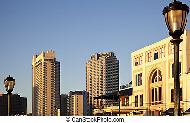 New Orleans, Louisiana - morning panorama of the city