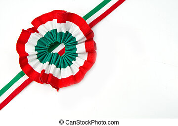cockade  with italian flag color