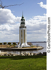 Brays Point Lighthouse in Oshkosh, Wisconsin